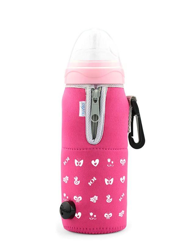 Nuvita Θερμαντήρας Μπιμπερών Travelmilk Flexi Pink