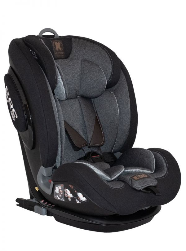 Kiddo Cruizer Gold Deluxe Iso-Fix Κάθισμα Αυτοκινήτου Group 1-2-3+ 9-36kg Black Stone Μαύρο 01