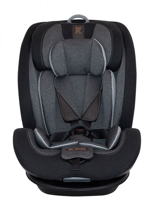 Kiddo Cruizer Gold Deluxe Iso-Fix Κάθισμα Αυτοκινήτου Group 1-2-3+ 9-36kg Black Stone Μαύρο 02
