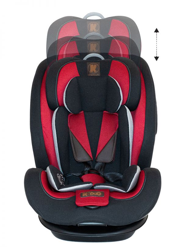 Kiddo Cruizer Gold Deluxe Iso-Fix Κάθισμα Αυτοκινήτου Group 1-2-3 9-36kg Chilli Pepper Κόκκινο 06