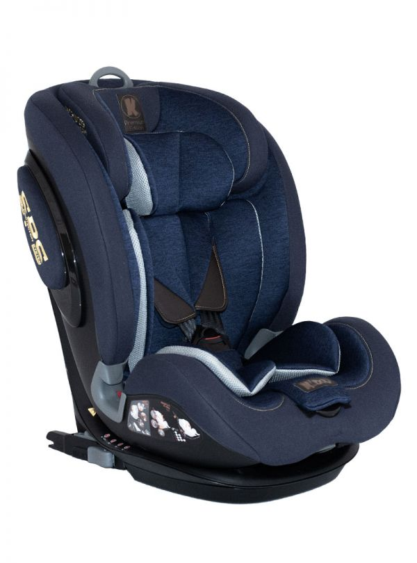 Kiddo Cruizer Gold Deluxe Iso-Fix Κάθισμα Αυτοκινήτου Group 1-2-3 9-36kg Dress Blue Μπλε 01