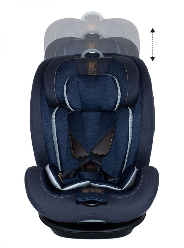 Kiddo Cruizer Gold Deluxe Iso-Fix Κάθισμα Αυτοκινήτου Group 1-2-3 9-36kg Dress Blue Μπλε 06