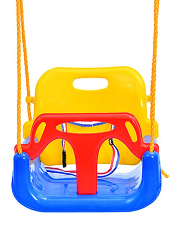 Παιχνίδια κήπου κούνια με σκελετό kiddo κίτρινη κόκκινη 04
