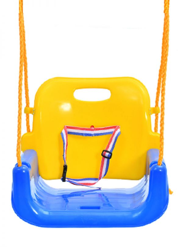 Παιχνίδια κήπου κούνια kiddo 3σε1 κίτρινη κόκκινη μπλε 03