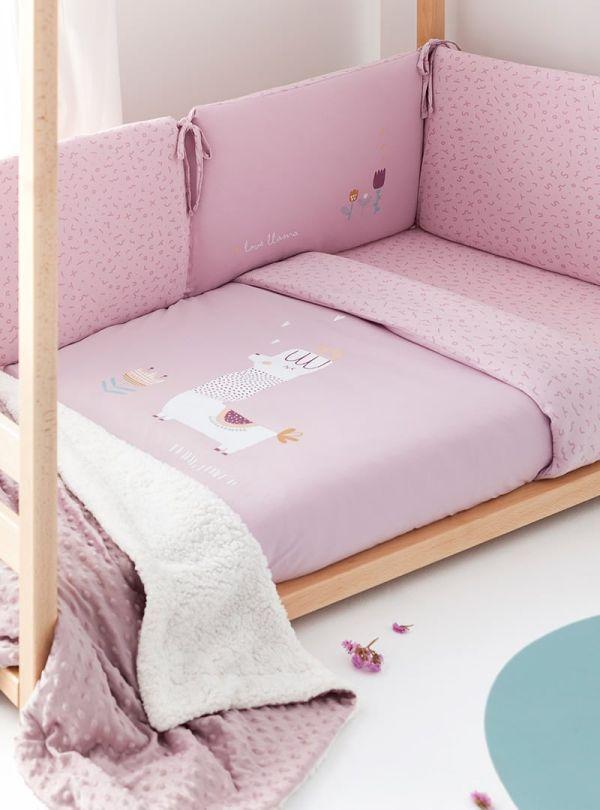 Bimbi Dreams Casual Σετ Προίκας 3τμχ Llama Pink