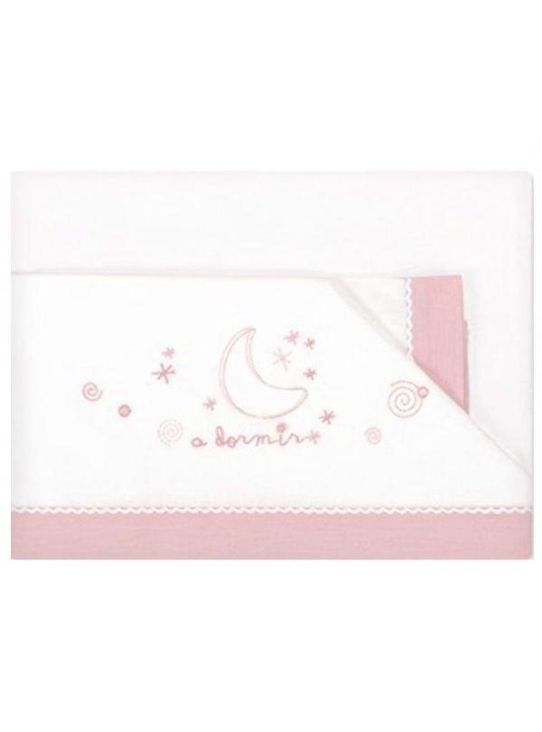 Pirulos Σετ Σεντόνια & Μαξιλαροθήκη 80x140cm A Dormir Pink