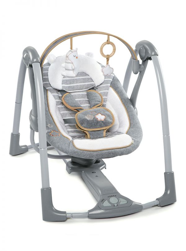 Ingenuity ΚούνιαBoutique Collection™ Swing 'n Go Portable Swing™ - Bella Teddy™ 01