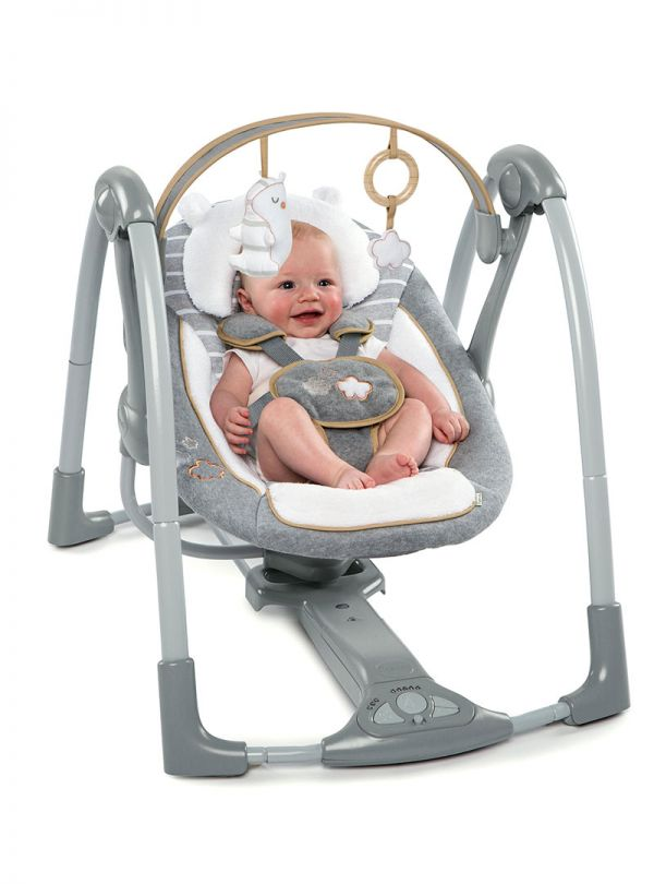 Ingenuity ΚούνιαBoutique Collection™ Swing 'n Go Portable Swing™ - Bella Teddy™ 02