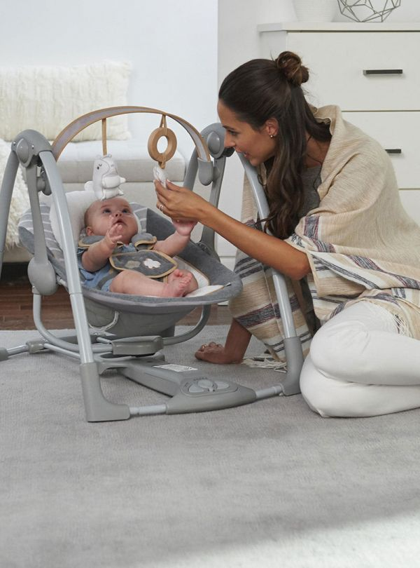Ingenuity ΚούνιαBoutique Collection™ Swing 'n Go Portable Swing™ - Bella Teddy™ 04