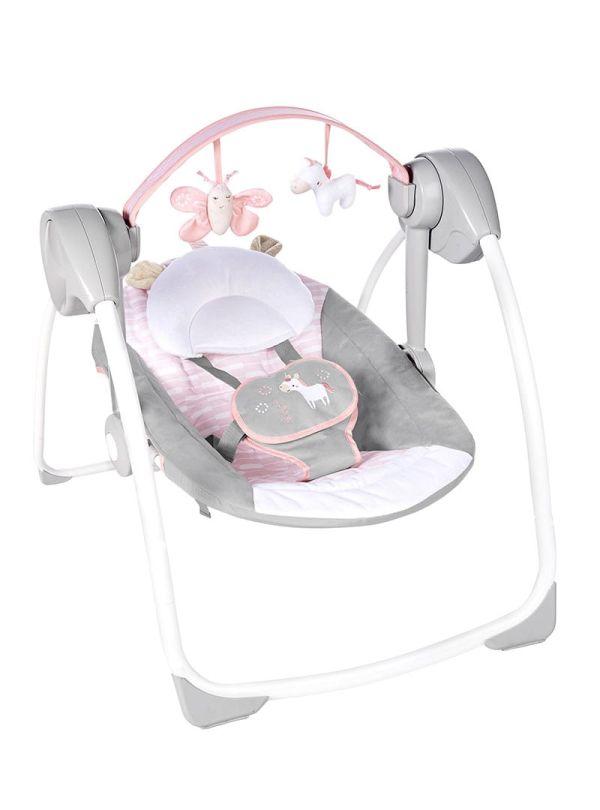 Ingenuity Κούνια Comfort 2 Go Portable Swing™ - Flora the Unicorn™ 01
