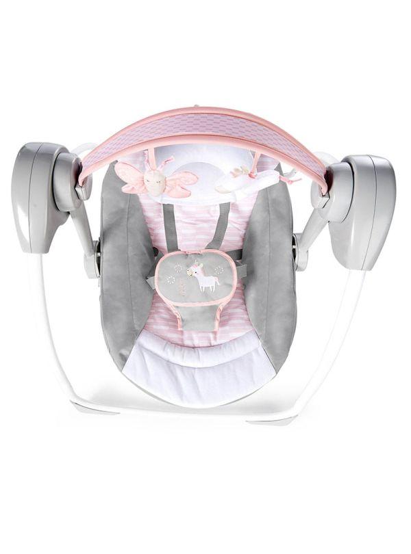 Ingenuity Κούνια Comfort 2 Go Portable Swing™ - Flora the Unicorn™ 02