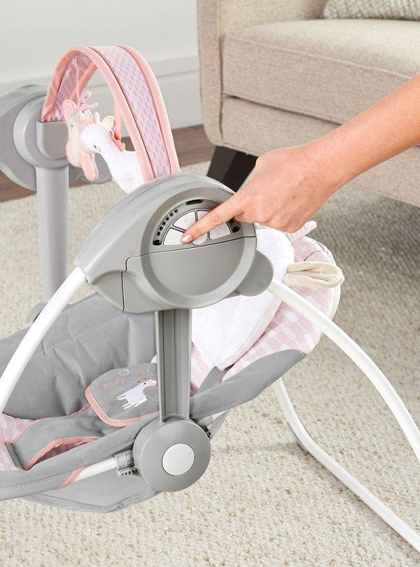Ingenuity Κούνια Comfort 2 Go Portable Swing™ - Flora the Unicorn™ 03