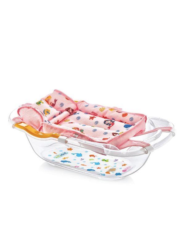 Baby Jem Bubble Baby Bath Tub Νet Ροζ με σχέδιο
