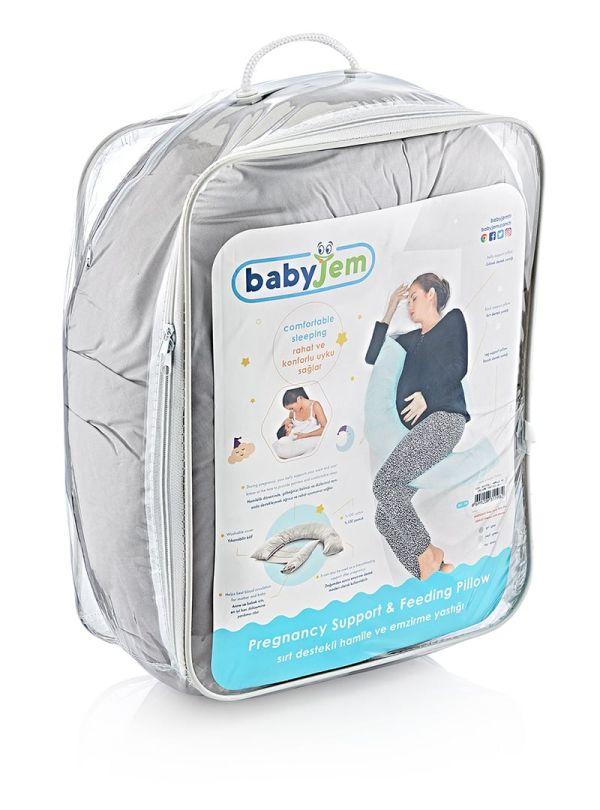 Μαξιλάρι Θηλασμού & Υποστήριξης Μέσης Baby Jem Εκρού 02