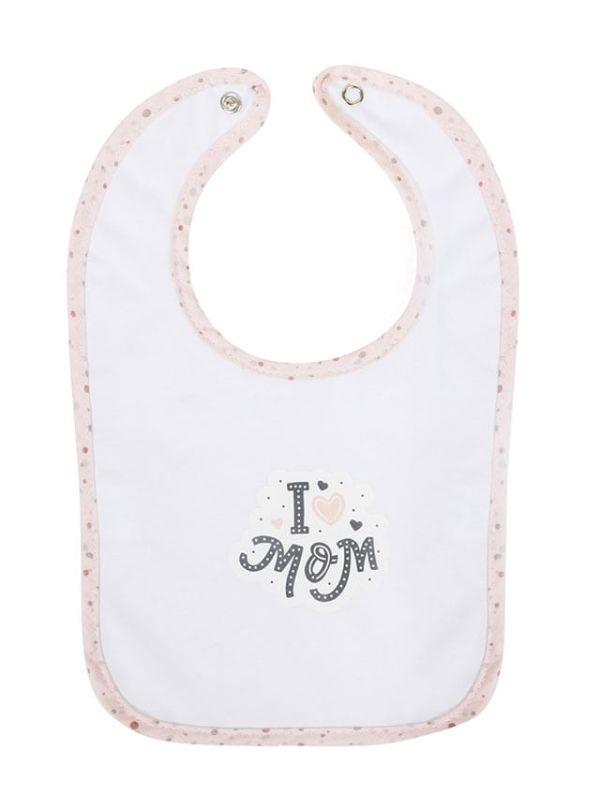 Bubaba Σαλιάρα I Love Mom Ροζ