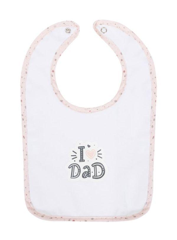 Bubaba Σαλιάρα I Love Daddy Ροζ