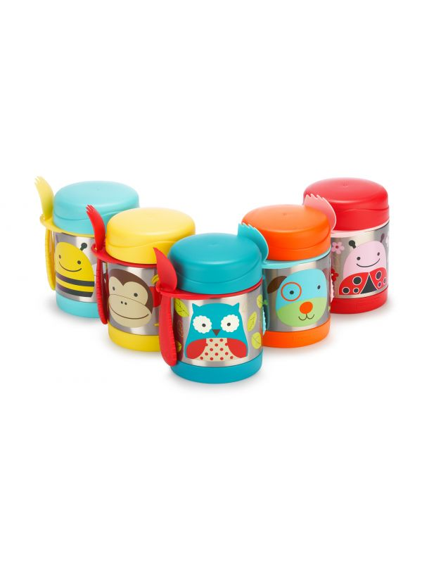 Δοχείο-θερμός τροφής skip hop zoo food jar κουκουβάγια μπλε 06