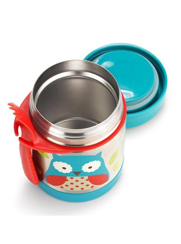 Δοχείο-θερμός τροφής skip hop zoo food jar κουκουβάγια μπλε 03