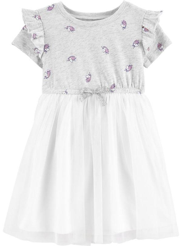 Oshkosh φόρεμα με μονόκερους και λευκή φούστα τουτού