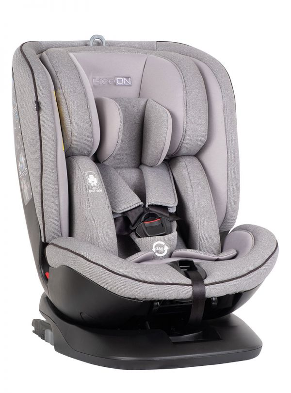 FreeOn Atlas Isofix Κάθισμα Αυτοκινήτου All in One / Group 0-1-2-3 / 0-36 kg / Light Grey