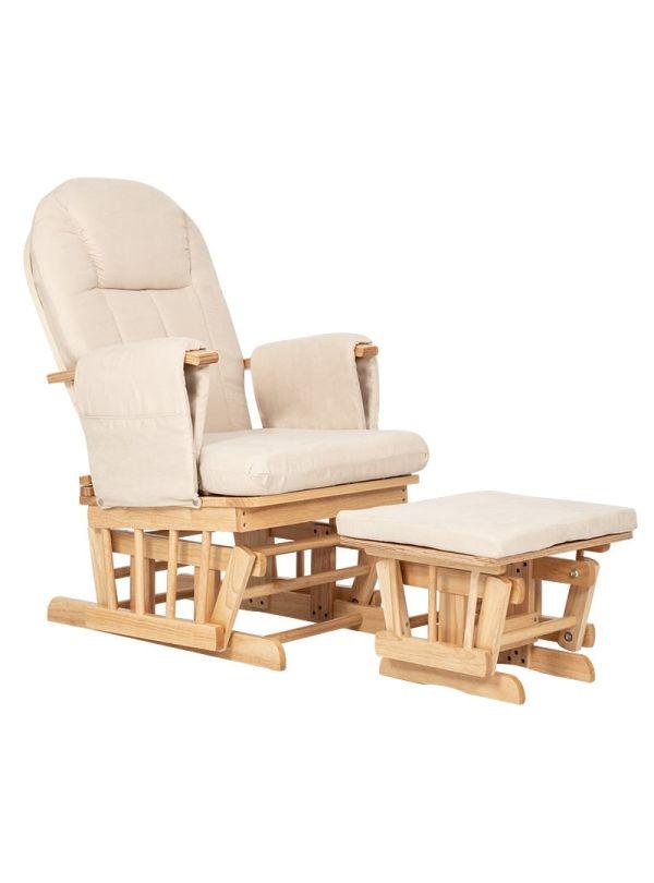 Kiddo Breast & Rest Καρέκλα Θηλασμού Μπεζ Με Ξύλινο Σκελετό 01