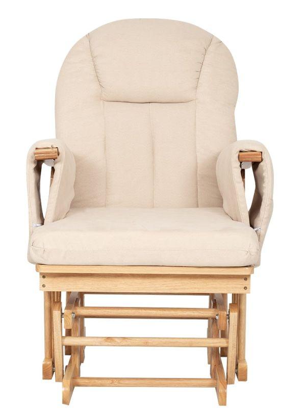 Kiddo Breast & Rest Καρέκλα Θηλασμού Μπεζ Με Ξύλινο Σκελετό 03