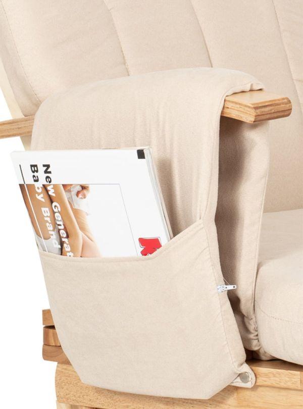 Kiddo Breast & Rest Καρέκλα Θηλασμού Μπεζ Με Ξύλινο Σκελετό 06