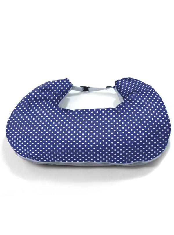 Μαξιλάρι θηλασμού nuvita μπλε feed friends polka dots 01