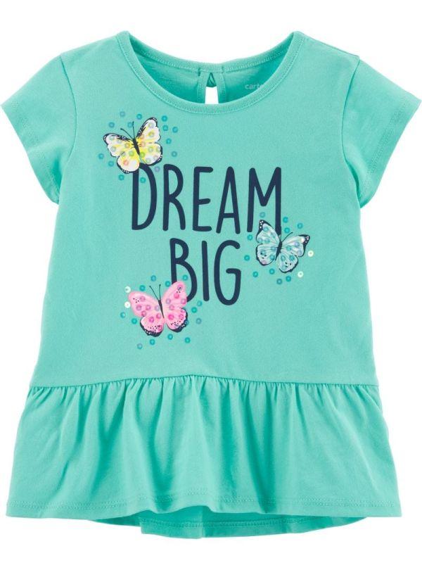 Carter's Μπλουζάκι τιρκουάζ ,''BIG DREAM''