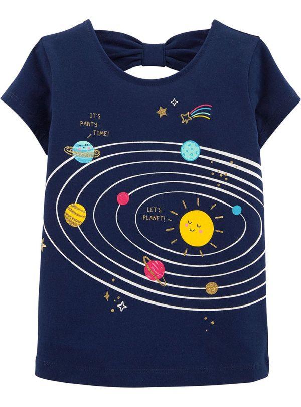 Carter's Mπλούζα μπλέ ,σχέδιο διάστημα