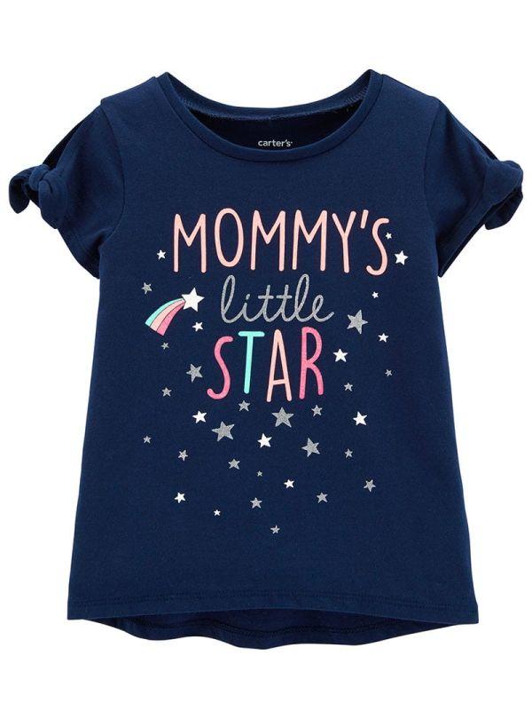 Carter's Mπλούζα μπλέ ''MOMMY'S LITTLE STAR''