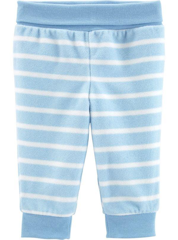 Carter's παντελόνι fleece ριγέ γαλάζιο-λευκό