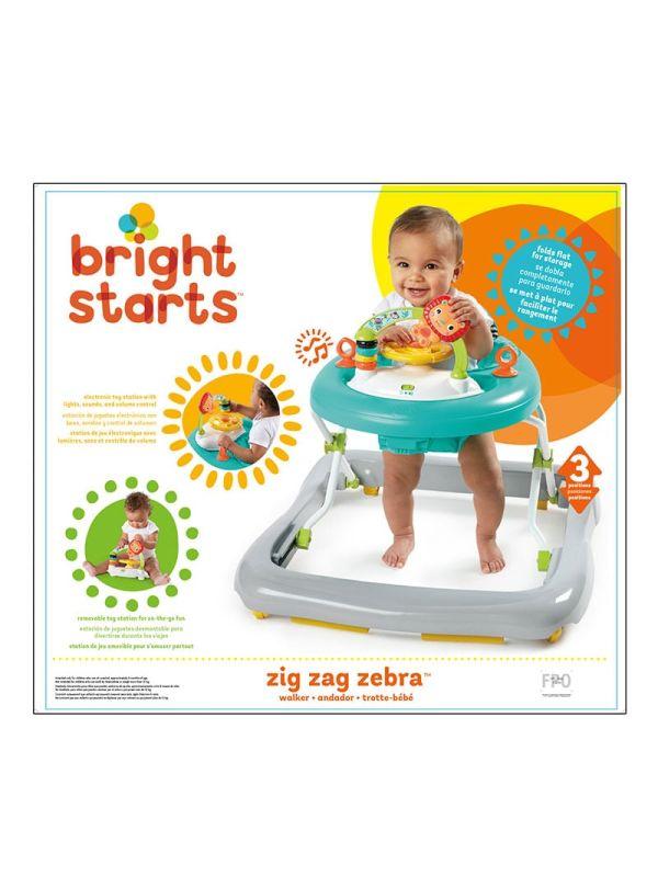 Bright Starts Περπατούρα 11477 Zig Zag Zebra Walker™ 08