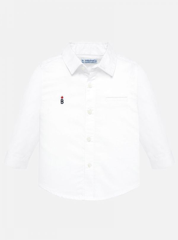 Mayoral λευκό πουκάμισο μακρυμάνικο