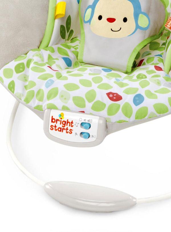 Ρηλάξ Bright Starts Merry Monkeys Cradling Bouncer γκρι πρασινο 07