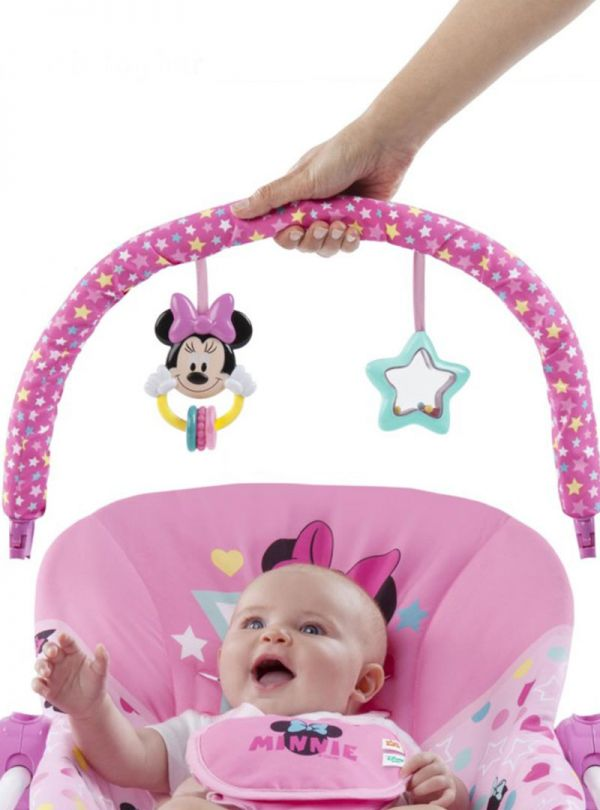 Pιλάξ Bright Starts Minnie Mouse Stars & Smiles Infant to Toddler Rocker™ 03