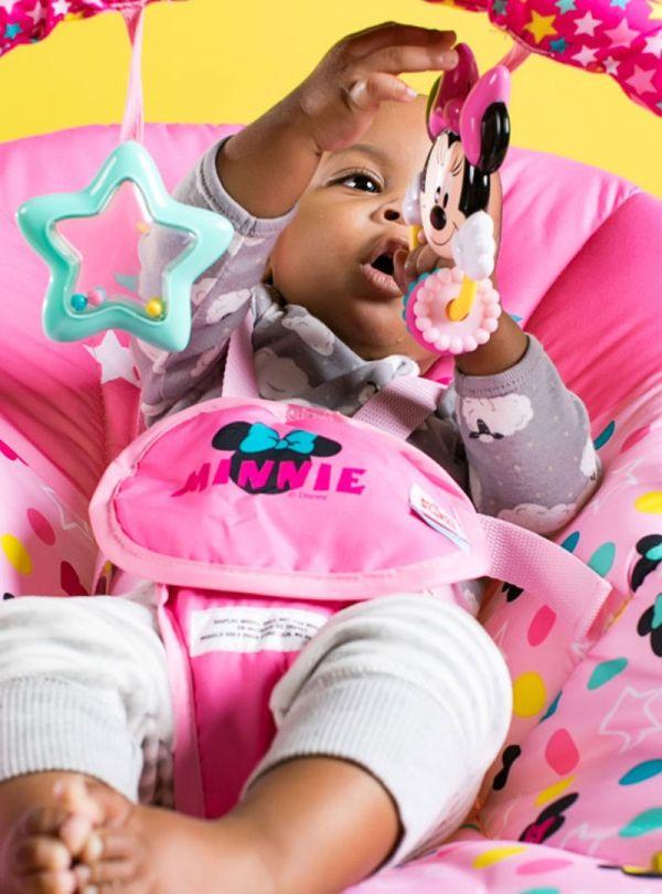 Pιλάξ Disney Baby Minnie Mouse Stars & Smiles Infant to Toddler Rocker™ 07