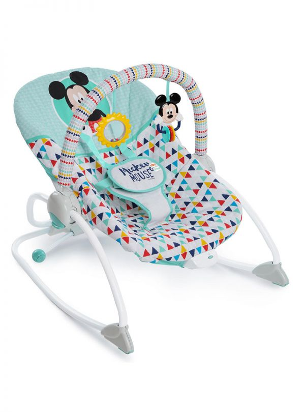 Pιλάξ Disney Baby Mickey Mouse Happy Triangles Infant to Toddler Rocker™ 01