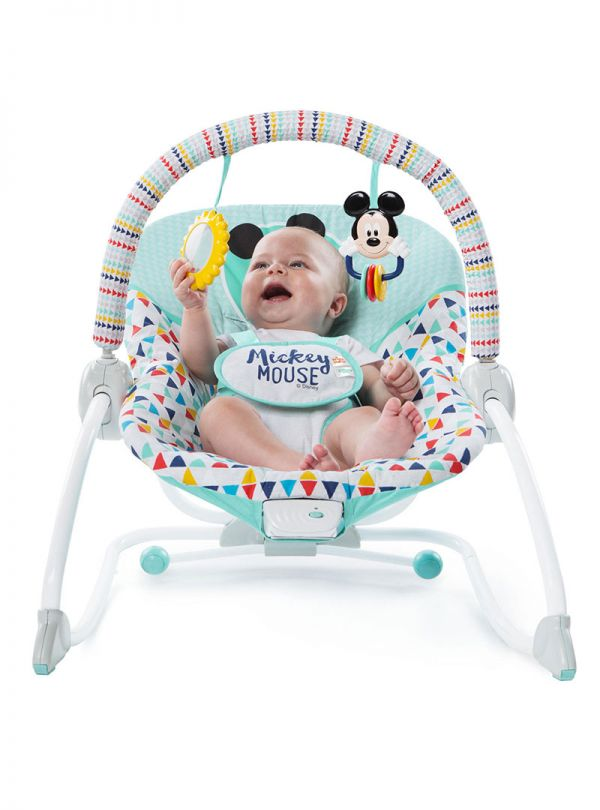 Pιλάξ Disney Baby Mickey Mouse Happy Triangles Infant to Toddler Rocker™ 03