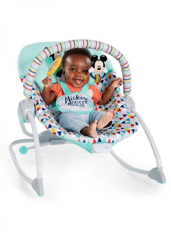 Pιλάξ Disney Baby Mickey Mouse Happy Triangles Infant to Toddler Rocker™ 04