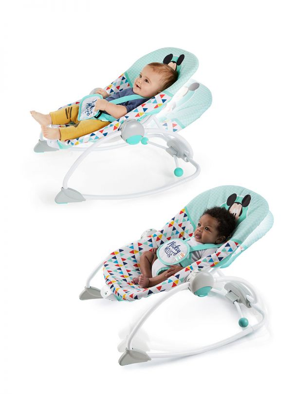 Pιλάξ Disney Baby Mickey Mouse Happy Triangles Infant to Toddler Rocker™ 06