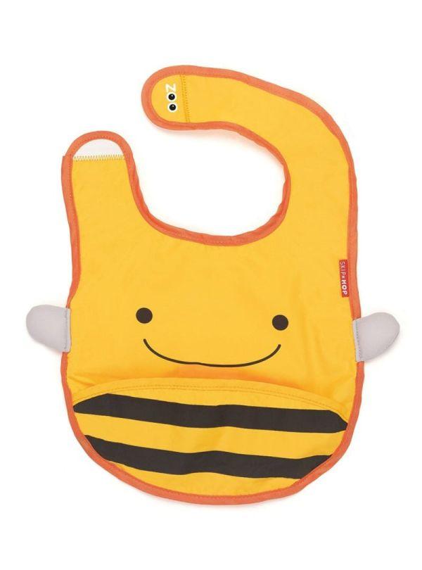 Σαλιάρα Skip Hop Zoo Bibs Bee κίτρινο 01