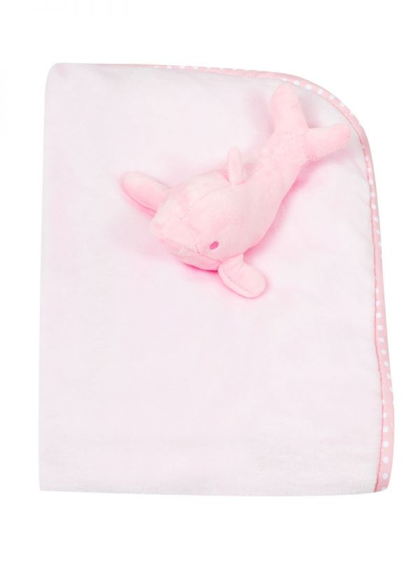 Snuggle Baby Κουβέρτα 3D Whale Pink
