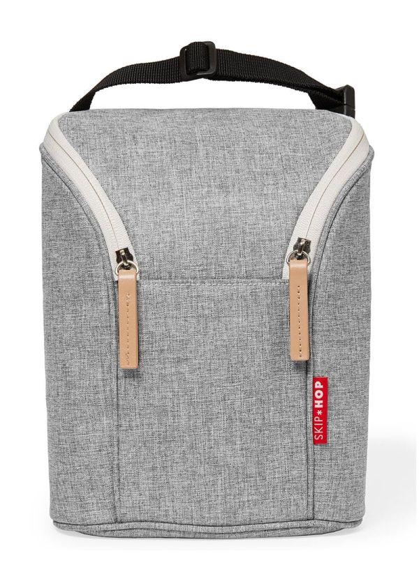 Skip Hop Grab & Go Grey Melange Τσάντα για 2 Μπουκάλια