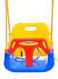 Παιχνίδια κήπου κούνια kiddo 3σε1 κίτρινη κόκκινη μπλε 02